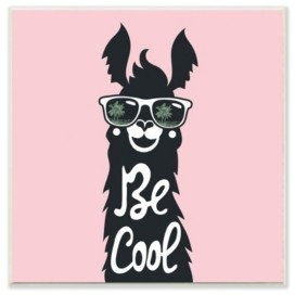 """Stupell Industries Be Cool Llama with Sunglasses Wall Plaque Art, 12"""" x 12"""""""