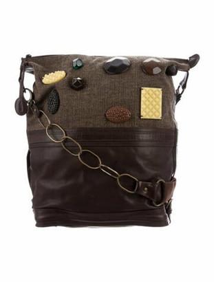 Marni Leather Embellished Crossbody Brown