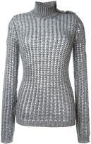 Balmain roll neck jumper - women - Polyamide/Polyester/Mohair/Wool - 40