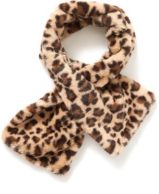 Shiraleah Jill Leopard Faux Fur Stole Brown Multi 1 Size
