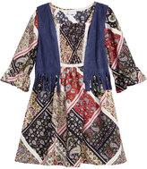 Sweet Heart Rose 2-Pc. A-line Dress and Fringe Vest Set, Little Girls (4-6X)