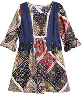 Sweet Heart Rose 2-Pc. A-line Dress & Fringe Vest Set, Little Girls (4-6X)