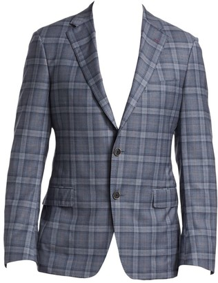 Saks Fifth Avenue COLLECTION BY SAMUELSOHN Wool Plaid Jacket