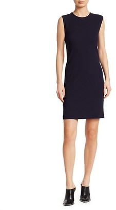 Helmut Lang Sleeveless Cotton Sheath Dress