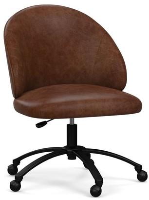 Pottery Barn Ryker Leather Swivel Desk Chair