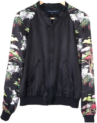 French Connection Black Silk Leather Jacket for Women