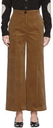 ALEXACHUNG Brown Corduroy Wide-Leg Trousers