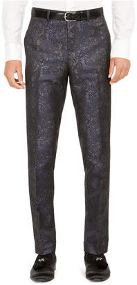 Tallia Men Slim-Fit Snakeskin-Print Suit Pants
