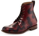 Vivienne Westwood Utility Ankle Boot Viviennes Squiggle Red/Black UK 7