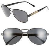 Burberry Women's 59Mm Aviator Sunglasses - Black