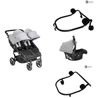 My Child Easy Twin Double Stroller + Car Seat Adapter Lower + Car Seat Adapter Upper + Car Seat