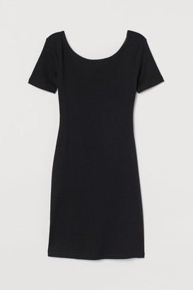 H&M Ribbed bodycon dress