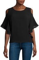 i jeans by Buffalo Cold-Shoulder Flutter Blouse