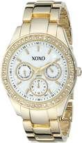 XOXO Women's Rhinestone Accent Tone Bracelet Watch XO5302A