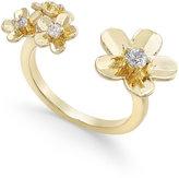 Vera Bradley Gold-Tone Petals Open Ring