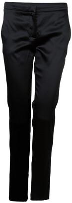 Philosophy di Alberta Ferretti Black Satin Trousers S