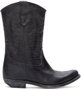 Golden Goose Deluxe Brand Black Leather Victoria Cowboy Boots