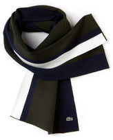 Lacoste Men's Made In France Stretch Colorblock Wool Scarf