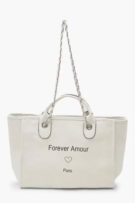 boohoo PU Chain Strap Day Bag