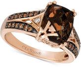 LeVian Le Vian® Chocolatier Chocolate Quartz® (2-5/8 ct. t.w.) and Diamond (1/3 ct. t.w.) Ring in 14k Rose Gold