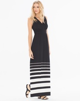 Soma Intimates Shirred Bodice Maxi Dress Sanctuary Stripe Black