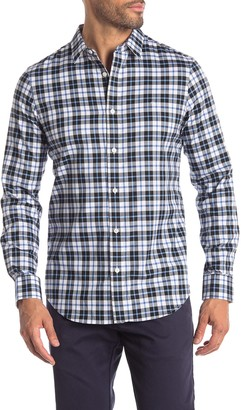 Calvin Klein Plaid Brushed Twill Modern Fit Long Sleeve Shirt