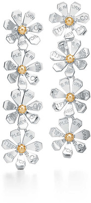 Tiffany & Co. Return to TiffanyTM Love Bugs daisy drop earrings in sterling silver and gold