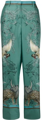 Roberto Cavalli Animal-Print Trousers