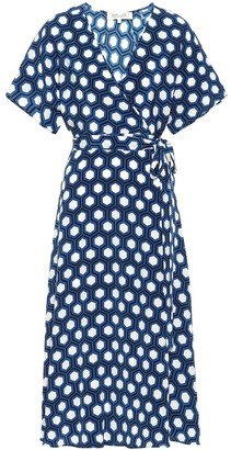 Diane von Furstenberg Kelsey printed silk midi wrap dress