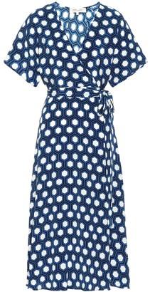 Diane von Furstenberg Kelsey printed silk midi wrap dress