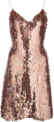 Alice + Olivia Metallic Sequin Dress