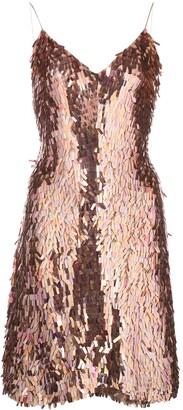 Alice + Olivia Metallic Sequin Dress