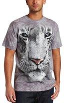 The Mountain Men's White Tiger Face Shirt