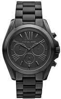 Michael Kors Ladies Bradshaw Black Ion-Plated Chronograph Watch