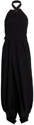 Proenza Schouler Wool Halterneck Wrap Dress