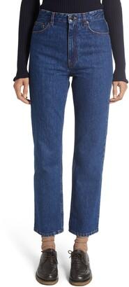 The Row Christie High Waist Crop Straight Leg Jeans