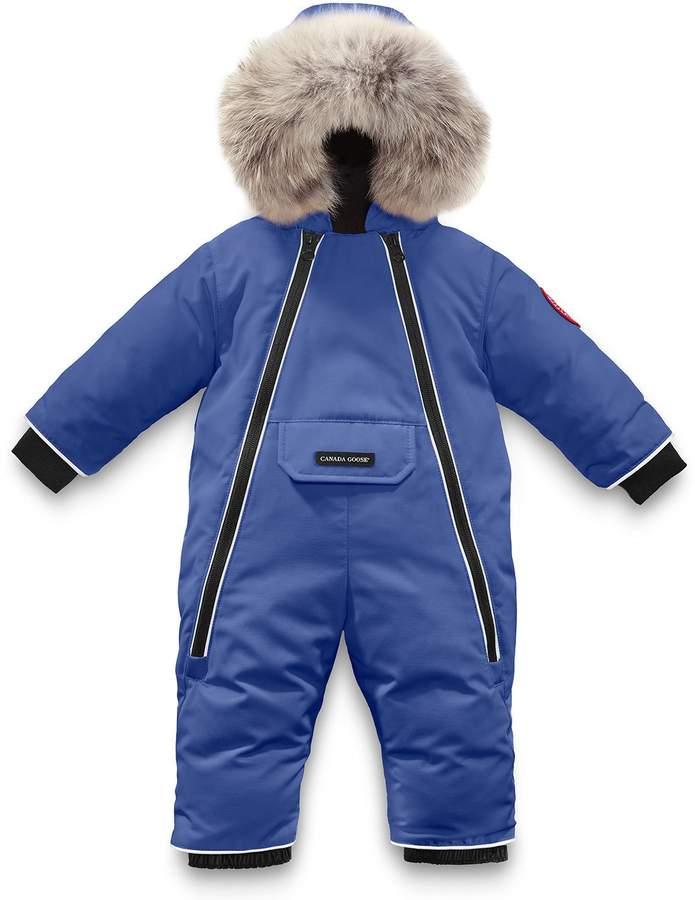 Canada Goose Lamb Snowsuit with Fur Trim, Size 6-24 Months