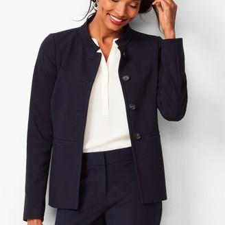 Talbots Italian Luxe Knit Four-Button Jacket