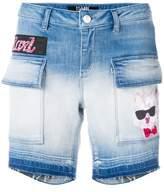 Karl Lagerfeld patch-appliqué denim shorts