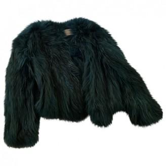 Saks Potts Green Raccoon Jacket for Women
