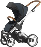 Mutsy EVO Industrial Edition Stroller - Blue - Silver Chassis