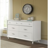 Child Craft Notting Hill 6 Drawers Double Dresser Color: Matte White