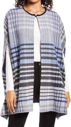 Halogen Plaid Knit Cape