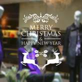 """ChezMax DIY Merry Christmas Wall Sticker Holiday Decoration Wall Decal Removable 22.83"""" x 22.83"""""""
