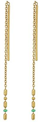 Madewell Enamel Threader Earrings (Mint Multi) Earring