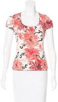 Just Cavalli Printed Short Sleeve Top