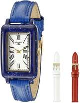 Kenneth Jay Lane Women's KJLANE-0914S-BSET Moderne Analog Display Japanese Quartz Blue Watch