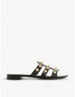 Dune Nell studded faux-leather mule sandals