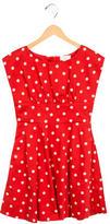 Kate Spade Girls' Polka Dot A-Line Dress