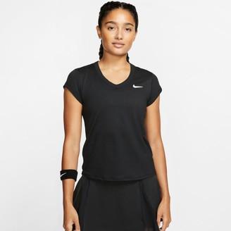 Nike Women's Court Dri-FIT Short-Sleeve Tennis Top